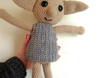 Dobby The House Elf Inspired Doll Harry Potter Crochet Amigurumi Dobby The Elf Toy