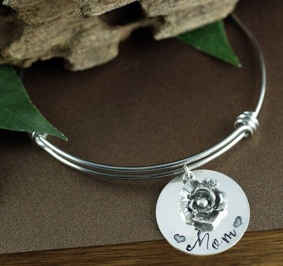 Mothers Bracelet, Personalized Charm Bracelet, Mothers Day Jewelry, Gift for Mom, Mothers Day Gift, Birthstone Bracelet, Mom Bracelet