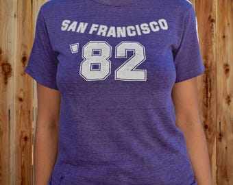 Vintage Paper Thin BURNOUT 1982 SAN FRANCISCO Tee S