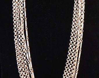 Vintage Gold Multi Chain Necklace / Multi Chain Necklace / Chain Necklace / Gold Chain