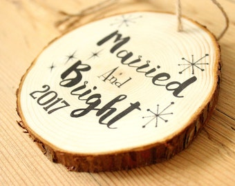 Wedding Gift - Married and Bright - Wedding Shower Gift - Bridal Shower Gift - Wedding Present - Gifts for the Couple - Wedding Gift