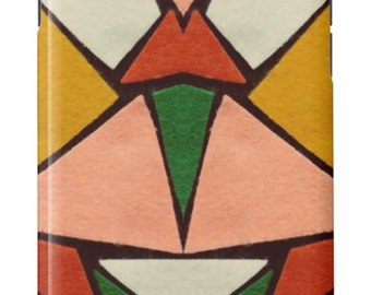 iPhone Case Vintage Kaleidoscope Felt Mid Century Modern Design