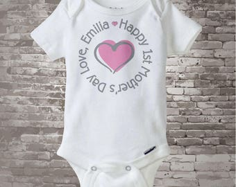 Happy First Mother's Day Onesie, Happy 1st Mothers Day Outfit -  Last minute New Mom Gift - First Mother's Day Gift 05012012i