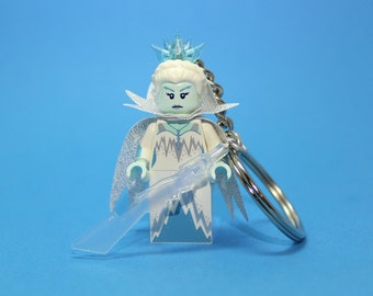 Ice Queen Keychain - made from new Ice Queen LEGO ® Minifigure