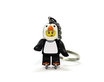 Penguin Keychain - made from new LEGO ® Penguin Boy Minifigure