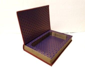 Hollow Book Safe Dragon Harvest Upton Sinclair Cloth Bound vintage Secret Compartment Security hiding place