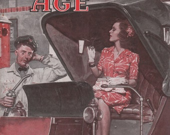 August 1944 Motor Age Magazine Automotive Servicemen Mechanics Transmissions