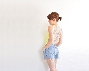 high waist Jordache cut off shorts . frayed light blue jean cotton denim .medium.large .sale s a l e