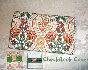 Checkbook Cover/Fabric/Holds the Checkbook/Register book and Pen