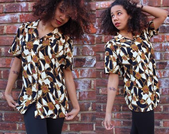 Vintage Royalty Button Up Blouse
