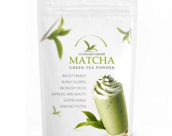 Traditional Matcha (16oz) - USDA Organic, Kosher & Non-GMO Certified, Vegan and Gluten-Free. Pure Matcha Green Tea Powder. Incredible Flavor