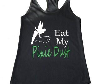 Tinkerbell Shirt, Tinkerbell Running Shirt, Tinkerbell Costume, Fairy Shirt, Pixie Shirt, Disney Tank, Run Disney Shirt