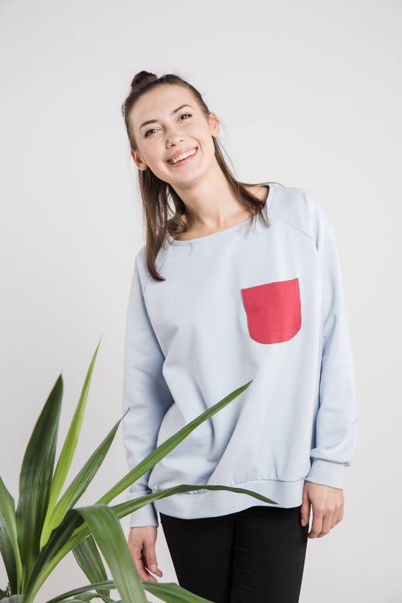 Blue jumper | Cute jumper | Casual jumper | LeMuse blue jumper