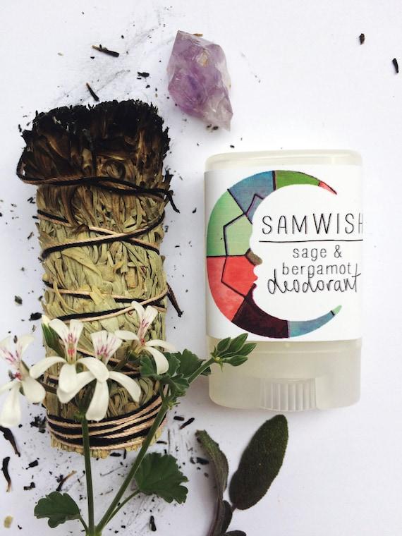 Sage & Bergamot Deodorant // Aluminum-Free // Organic // Small + Large