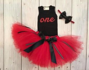 Tutu Dress | Birthday Tutu | Baby Tutu Skirt | Red Ladybug Birthday Tutu | Strawberrie Rose | 1st Birthday Tutu