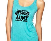 Aunt Shirt. Aunt gift. Best auntie ever. Auntie shirt. Gifts for aunt. Aunt to be shirt. Aunt racerback tank top. Super soft tank.