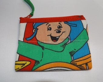 Alvin and The Chipmunks Coin Purse- Vintage-80s  Disney