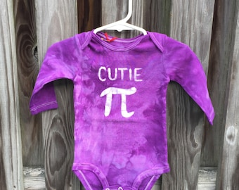 Cutie Pi Baby Bodysuit, Purple Pi Day Baby Shirt, Boy Pi Day, Girl Pi Day, Math Baby Gift, Nerdy Baby Gift, Baby Shower Gift (6 months)