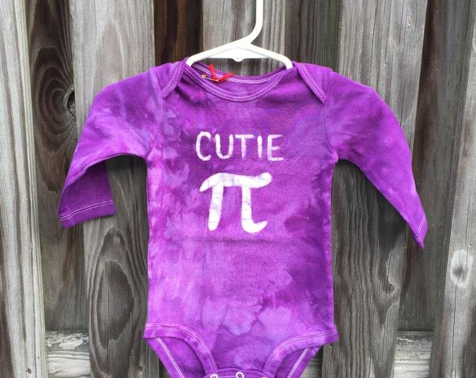 Cutie Pi Baby Bodysuit, Purple Pi Day Baby Shirt, Boy Pi Day, Girl Pi Day, Math Baby Gift, Nerdy Baby Gift, Baby Shower Gift (6 months)