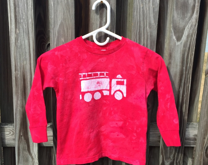 Fire Truck Shirt, Red Fire Truck Shirt, Fire Engine Shirt, Red Truck Shirt, Boys Fire Truck Shirt, Girls Fire Truck Shirt (4/5)