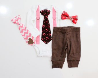 Baby boy valentine outfit