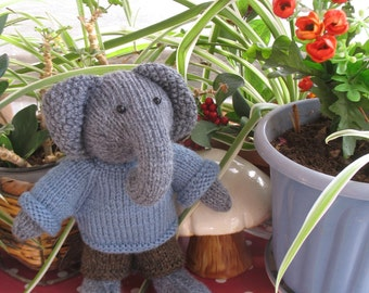 Lovely knitted elephant doll