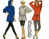 Simplicity 9927 Stretch Leggings Skirt Hooded Top Pattern Sizes 6 - 24 UNCUT Factory Folded