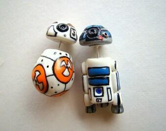 Star Wars Droids Fake Plug Earring- R2D2 - BB8 -Jedi - Luke Skywalker - Darth Vader