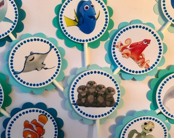 """30 Dimensional """"Finding Dory"""" Cupcake Toppers *Ready to Ship*"""