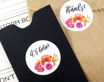 Shop Exclusive - Bright & bold spring florals stickers - thanks! stickers, it's here! stickers - V2