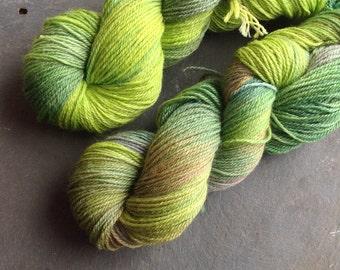 MATCHA - Ramie/wool sock yarn Hand dyed