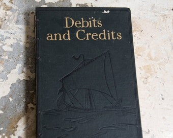 1926 DEBITS and CREDITS Vintage Lined Journal Notebook