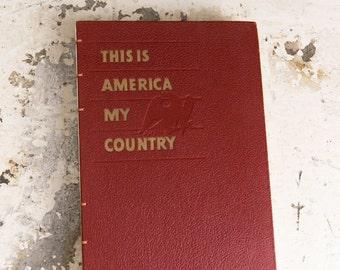 1952 AMERICA Vintage Sketch Notebook Journal
