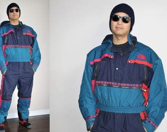 Rare VTG 1990s The North Face Winter Parka One Piece Snowsuit - 90s North Face - 90s Clothing - MV0024