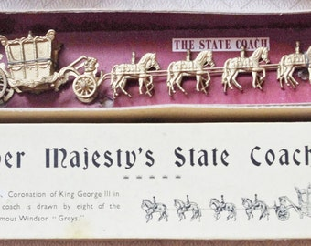 Vintage - Britains - Her Majesty's State Coach - No:44D - Boxed - c1950's