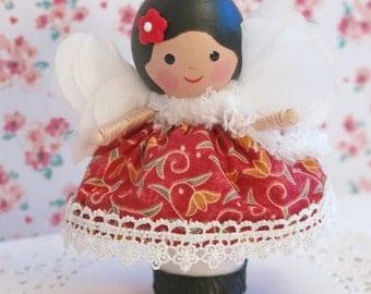 Fabric Doll, Angel Fairy Baby Doll, Handmade Doll, Take Along Doll, Little Girl Gift, Little Doll, Comfort Doll,Gift Doll Little Sister Doll