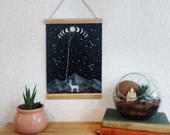 Original Painting // Lunar Symbiosis //Elise mahan