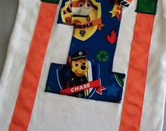 Paw patrol birthday, 1st birthday boy outfit, bow tie and suspenders, birthday outfit boy