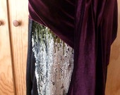Kimberly exchange for larger size/Purple velvet shawl scarf/Free shipping in U.S.