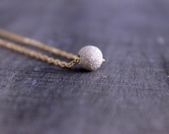 Gold Filled Stardust Bead Necklace, Women's Gold Necklace, Delicate Gold Necklace, Minimalist Jewelry, Minimalist Gold Necklace
