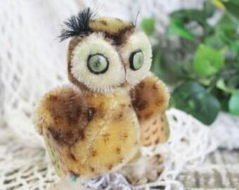 Vintage STEIFF Owl, Steiff Witti Owl, Stuffed Toy Owl, Bird
