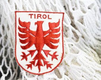 Vintage Tirol, Tyrol Austria Travel Patch 1960, Vintage Austria Souvenir