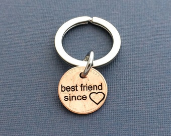 Best Friend Since Engraved Penny - Gift for Her - Daughter Gift For - Engraved Penny - Best Friend Gift For - Sister gift - Birthday