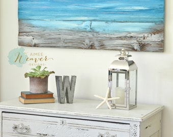 Shimmering Sea Ocean beach painting made-to-order