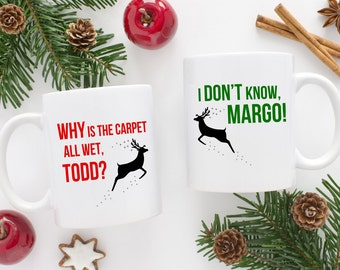 National Lampoons Christmas Vacation Mug Set | Margo & Todd | National Lampoon Gift | Matching Christmas Mugs | His and Hers | Chevy Chase