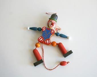 Austrian Clown Jumping Puppet