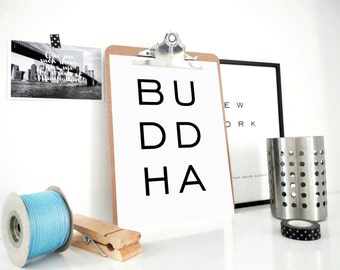 Buddha Printable Art Print, Buddha Poster, Yoga Studio Decor, Yoga Wall Art, Meditation Wall Art, Buddha Wall Art, Buddhist Decor, Zen Art