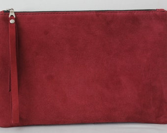 Maroon Clutch Bag, Wristlet Bag