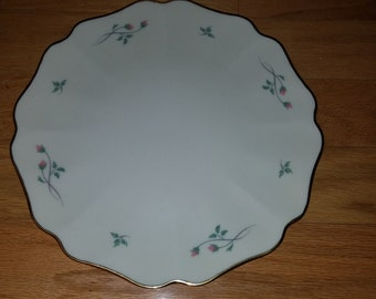 Lenox Rose Manor cake platter