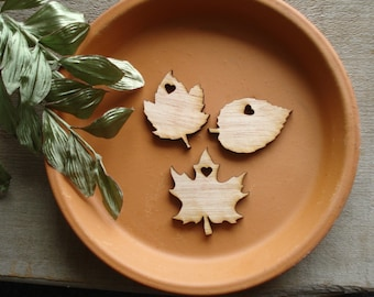 300 Wood Leaf Wedding Favors Personalized Leaves